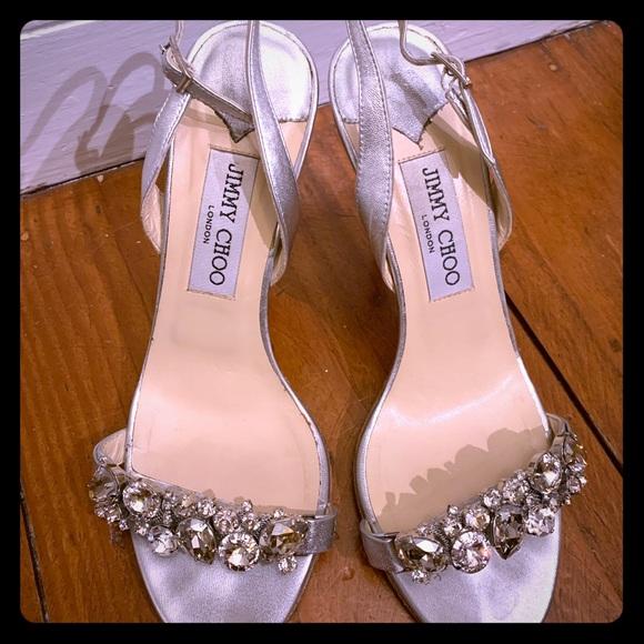 Heels Choo Jimmy Lotus Silver Poshmark ShoesAuthentic Crystal iOZuXPkT